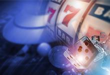 slot machines and dice symbolising gambling